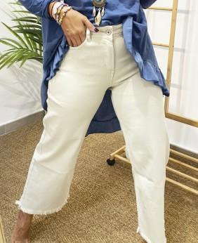 Pantalón Vaquero Bajo Flecos