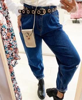 Pantalones Mom Vaquero