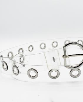 Cinturón Transparente Plata