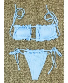 Bikini Bandeau (Celeste)